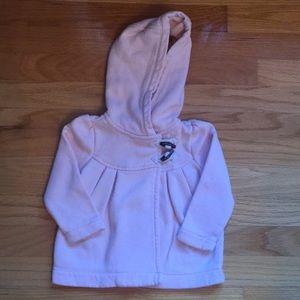 Baby Gap Girls 12-18 Months Pink Hoodie Sweatshirt